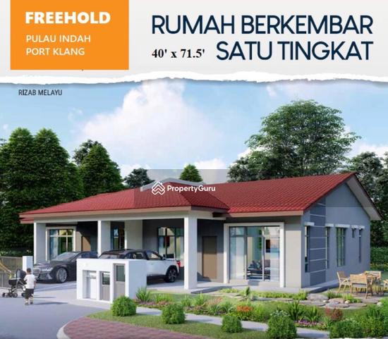 Klang Single Storey Semi D Bangalow open for register Port Klang easy access Kesas Port Klang  129638907